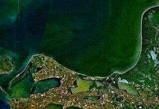 Taman Bay bay in Russia