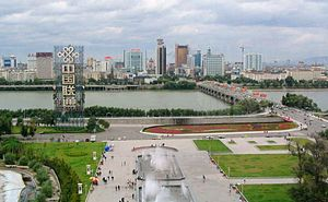 Jilin City - Jilin Bridge and Century Square