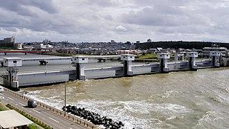Shinano River - Sekiya ocean gate.