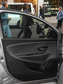 Interior Panel Of A Modern Vehicle Door Lancia Ypsilon