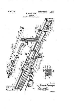 Mondragón rifle - Image: 003 mondragon patent rifle