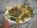 0099Nilagang repolyo, petsay Tagalog, kamote, patatas, kamatis at Pritong Dalag (Bulig) sa tanglad 21.jpg