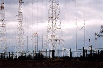 Curtain array - Former Radio France Internationale (RFI) Issoudun Relay station feeders and curtain arrays.