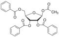 1-O-acetyl-2,3,5-tri-O-benzoyl-beta-D-ribofuranose.png