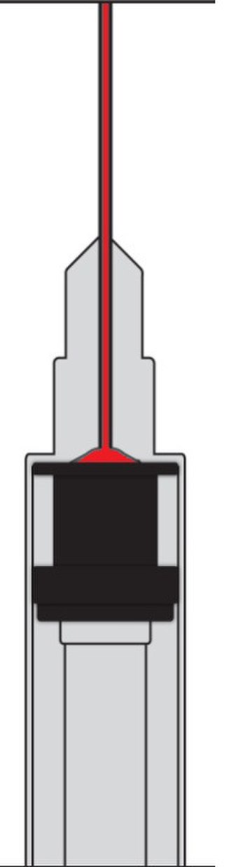 "Low dead space syringe - 1-ml syringe, ""insulin syringe"""