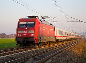 Intercity (Deutsche Bahn) - A DB Intercity train near Minden in 2012