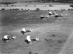 10th School Group - Image: 10th School Group Curtiss AT 4 Hawk Trainers