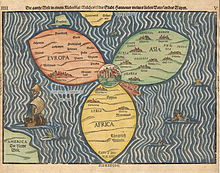 Bünting clover leaf map, 1581