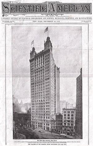Park Row Building - Image: 15Park Row Scientific America