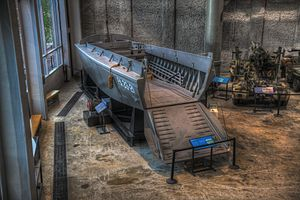 Higgins Industries - Higgins boat on display in The National WWII Museum
