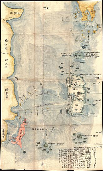 Satsuma Domain - Map showing southern Kyushu and the Ryukyu Islands, 1781