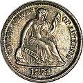 1871 Proof Half dime obverse.jpg