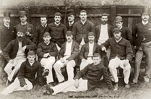 Harry Boyle (cricketer) - Boyle middle row left pictured with 1888 Australia national cricket team