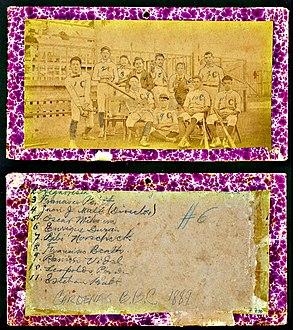 Cuban League - 1889 Club Cardenas