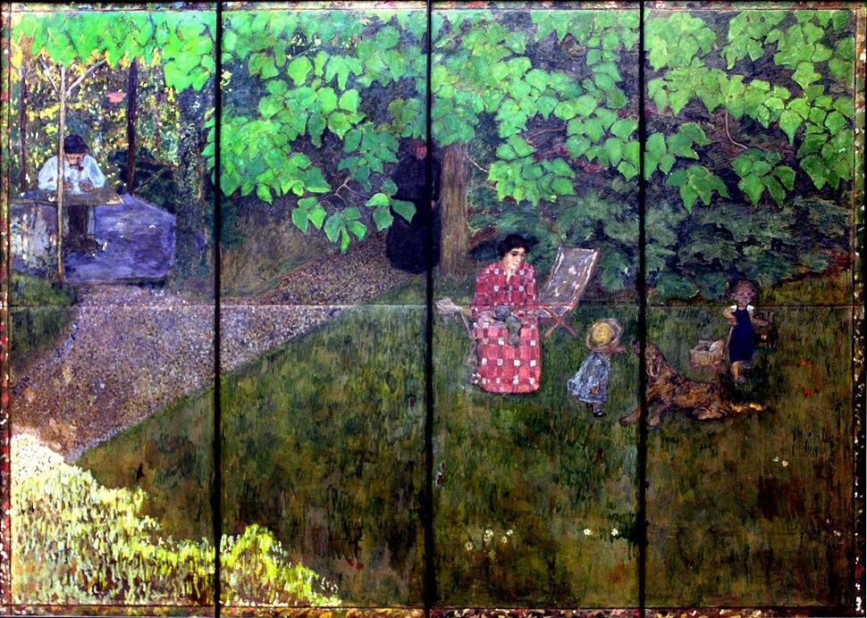 1896 Bonnard Familie des Komponisten Claude Terrasse anagoria