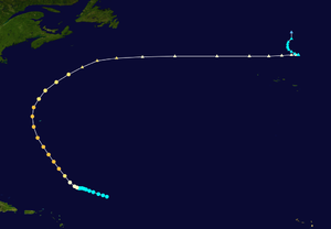 1930 Atlantic hurricane season - Image: 1930 Atlantic hurricane 1 track