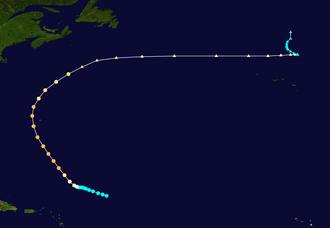 1930 Atlantic hurricane season - Image: 1930 Atlantic hurricane 1 track