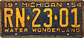 1954 Michigan License Plate.JPG