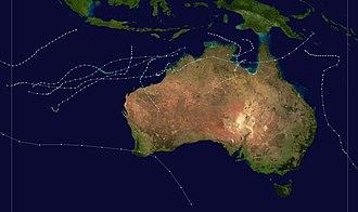 1972–73 Australian region cyclone season - Image: 1972 1973 Australian cyclone season summary