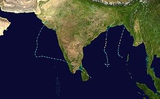 1981 North Indian Ocean cyclone season - Image: 1981 North Indian Ocean cyclone season summary