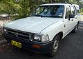 1994-1997 Toyota Hilux (RN85R) DX 4-door utility 02.jpg