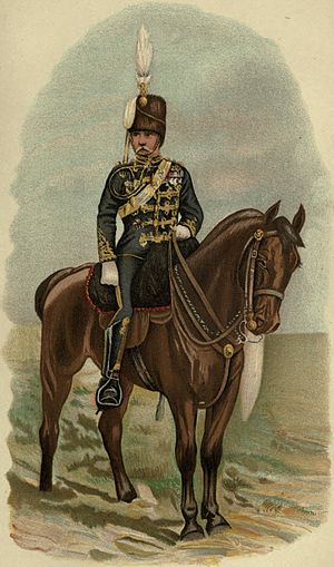 19th Royal Hussars - An officer of the 19th Hussars, 1882