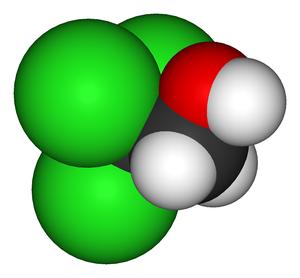 2,2,2-Trichloroethanol - Image: 2,2,2 trichloroethanol 3D vd W