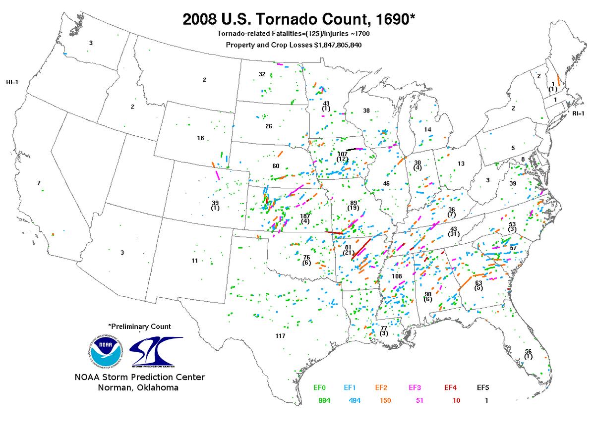 Tornadoes of 2008 - Wikipedia