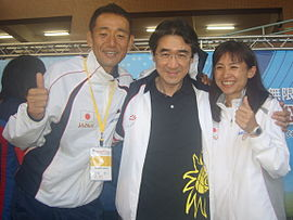 2009 SCUltraMarathon Closing Hwang and two Champions.jpg