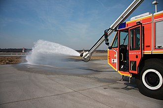 Airport crash tender - A Rosenbauer Simba 8x8 HRET at Frankfurt Airport in action