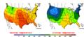 2013-09-19 Color Max-min Temperature Map NOAA.png