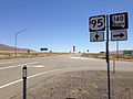2014-07-06 13 29 14 View south along U.S. Route 95 about 33.0 miles north of the junction with Interstate 80 at the junction with Nevada State Route 140 in Humboldt County, Nevada.JPG