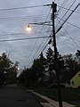 2014-10-31 18 04 34 Recently activated incandescent street light along Fireside Avenue in Ewing, New Jersey.JPG