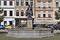 2014 Frydek-Mistek, Fontanna św. Floriana na rynku we Frydku 02.jpg