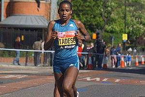 Feyse Tadese - Tadese at the 2014 London Marathon
