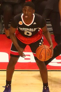 20150401 MCDAAG Jawun Evans in the halfcourt (2).JPG
