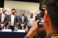 2015 Wikimania press conference - JS - 12.jpg