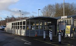 2015 at Templecombe station - new ticket office.JPG