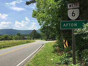 Virginia State Route 6 - View west along SR 6 near Avon