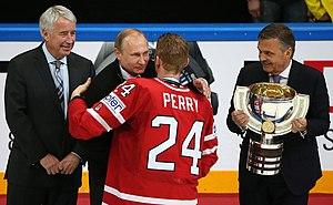 Corey Perry - Image: 2016 IIHF World Championship. Final match (2016 05 22) 08