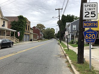 Belvidere, New Jersey - View north along CR 620 in Belvidere