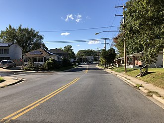 Fairmount Heights, Maryland - View northwest along Addison Road, the largest road completely within the borders of Fairmount Heights