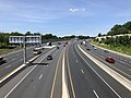 2019-07-15 14 46 58 View north along Interstate 95 (John F. Kennedy Memorial Highway) from the overpass for Hazelwood Avenue in Rosedale, Baltimore County, Maryland.jpg