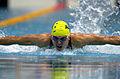 211000 - Swimming 200m medley SM10 Justin Eveson action - 3b - 2000 Sydney event photo.jpg