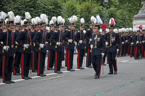 Royal Military Academy (Belgium) - Soldiers at the Royal Military Academy on parade on Belgian National Day, 2011.