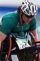 221000 - Athletics wheelchair racing Louise Sauvage pre race - 3b - 2000 Sydney race photo.jpg