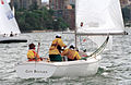 231000 - Sailing sonar Jamie Dunross Noel Robins Graeme Martin action - 3b - 2000 Sydney race photo.jpg