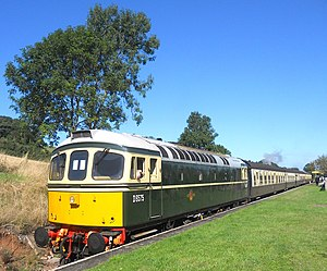 British Rail Class 33 - British Railways Class 33 D6575 and train at Washford on the West Somerset Railway
