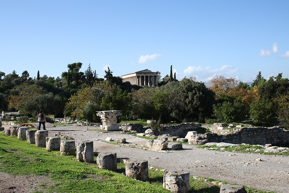 3486 - Athens - Agorà - Theseion from the Middle stoà - Photo by Giovanni Dall'Orto, Nov 9 2009