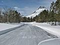 4-4-12-Swiftcurrent Motor Inn Parking Area and Mt. Wilbur (6901829244).jpg